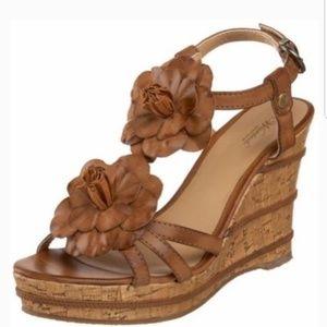 Wanted Daisy Platform Cork Wedge Sandals Size 9